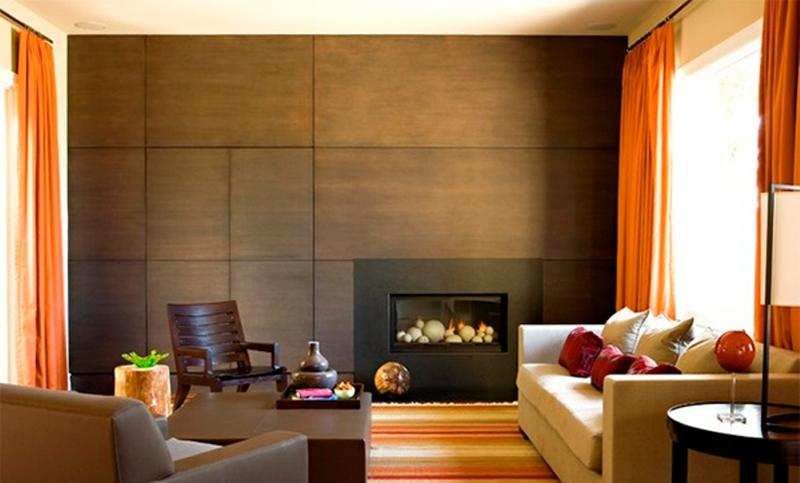 Charming living rooms with wooden panel walls rilane