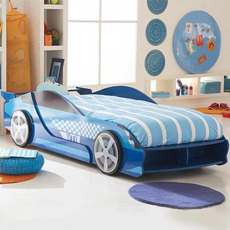 17 awesome car inspired bed designs for boys rilane for Cool headboards for boys