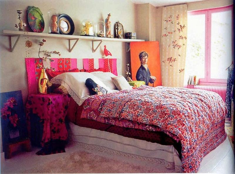 cool bohemian bedroom