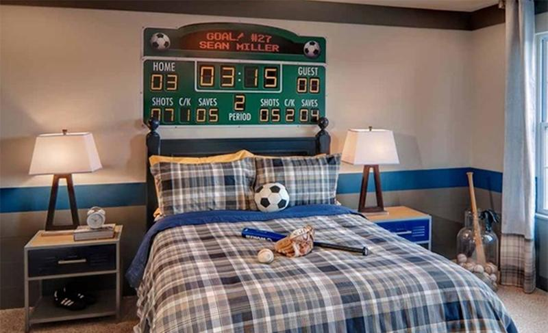 15 sports inspired bedroom ideas for boys rilane for Boys sports bedroom ideas