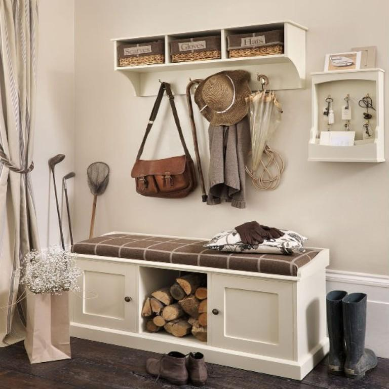 Hallway Storage Bench Design Ideas