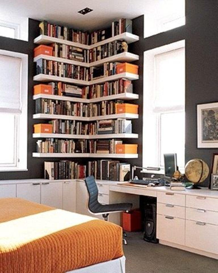 corner floating shelves