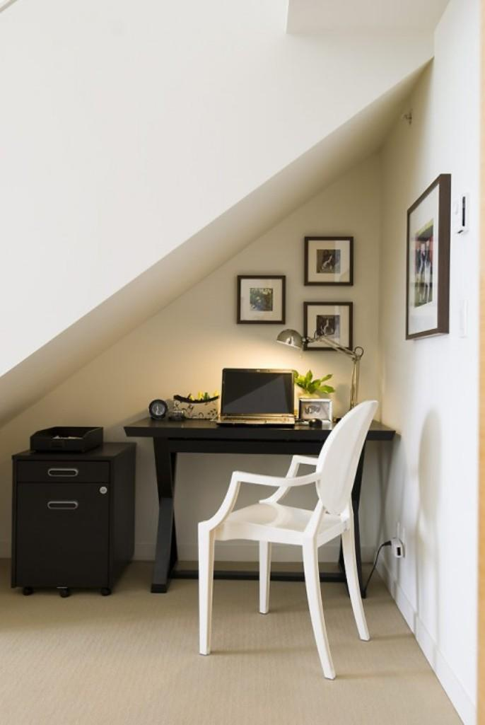 Corner Under Stairs Home Office