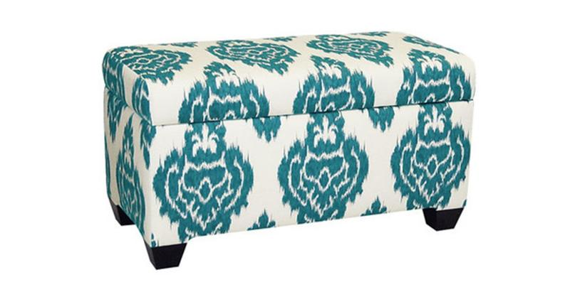 Cotton Floral Storage Ottoman - 10 Beautiful Storage Ottoman Bench Ideas For The Bedroom - Rilane