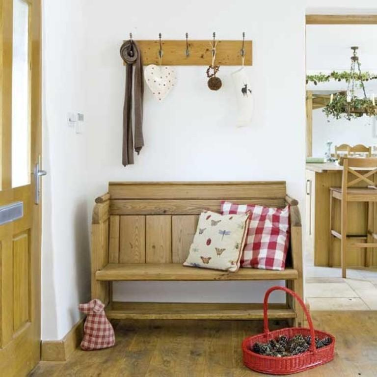 Beau Country Natural Wood Bench