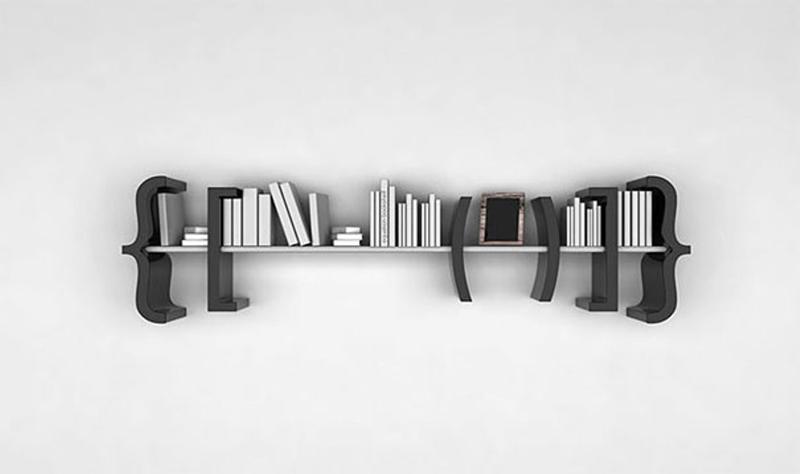 Creative Black Floating Shelf
