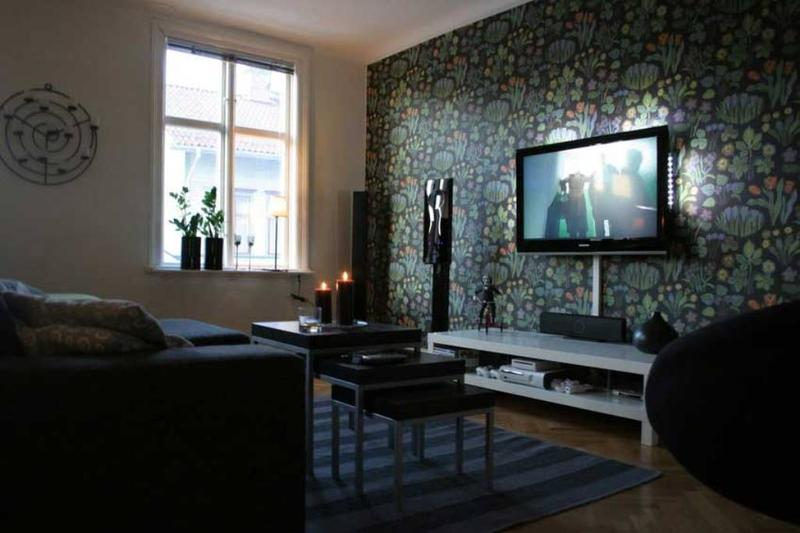 Modern Living Room Wallpaper Ideas 20 living rooms with beautiful floral wallpaper - rilane