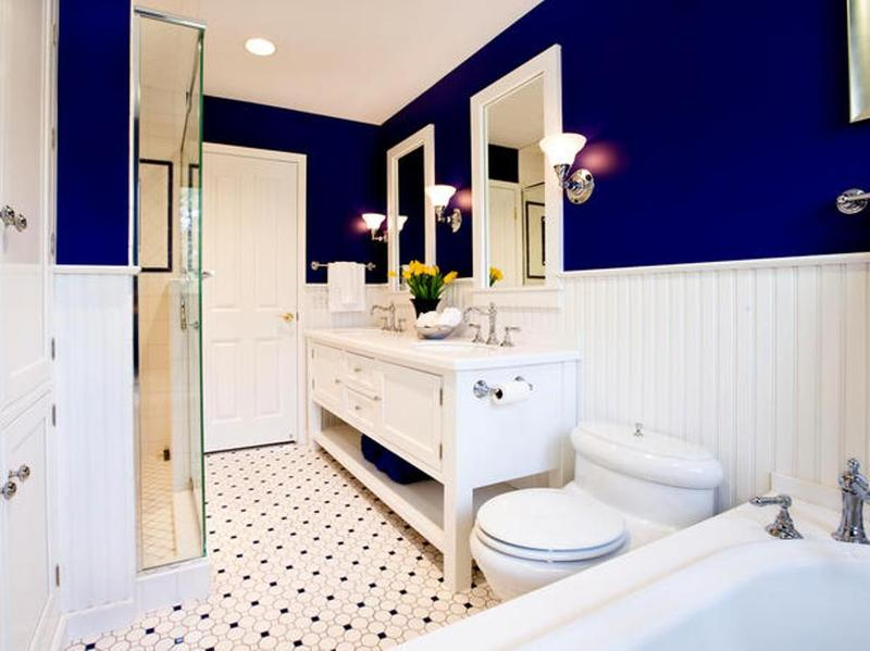 Deep Ocean Blue Bathroom