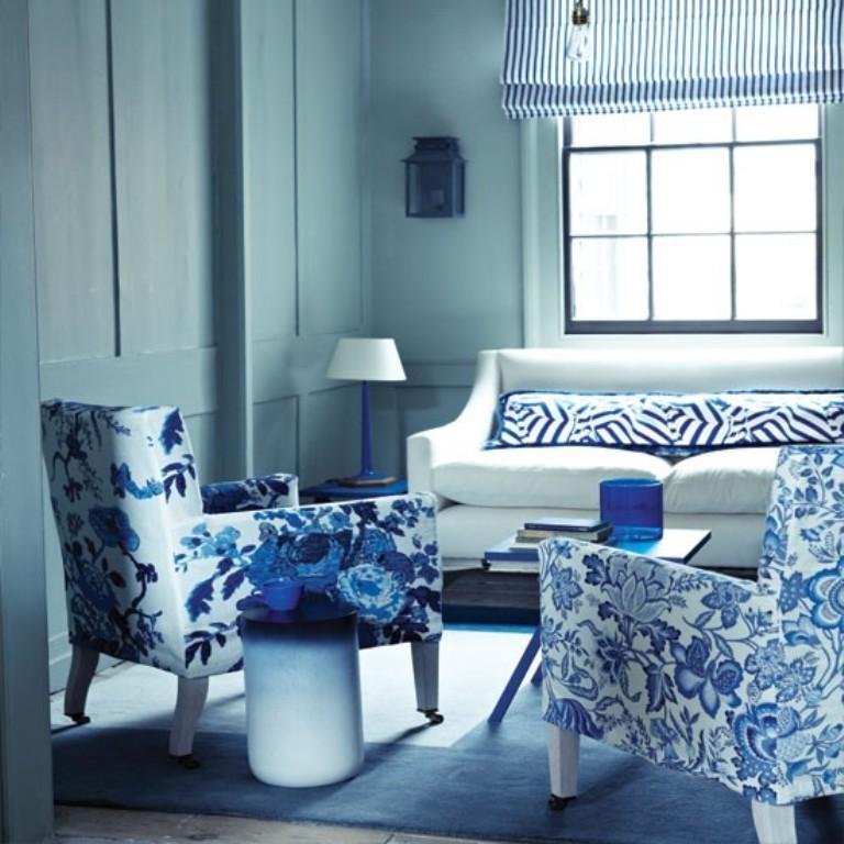 White And Blue Living Room 20 radiant blue living room design ideas - rilane