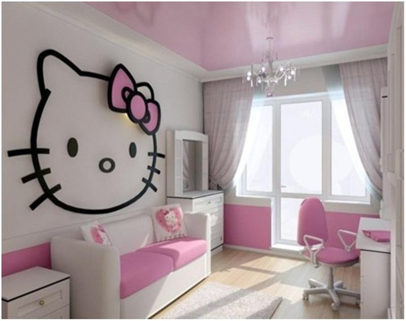 15 adorable hello kitty bedroom ideas for girls rilane rh rilane com hello kitty bedroom for adults hello kitty decoration for bedroom
