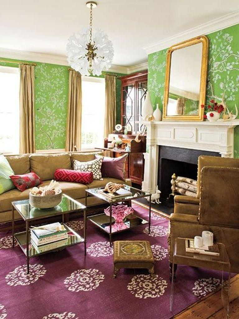 Rooms With Wallpaper 20 Living Rooms With Beautiful Floral Wallpaper  Rilane