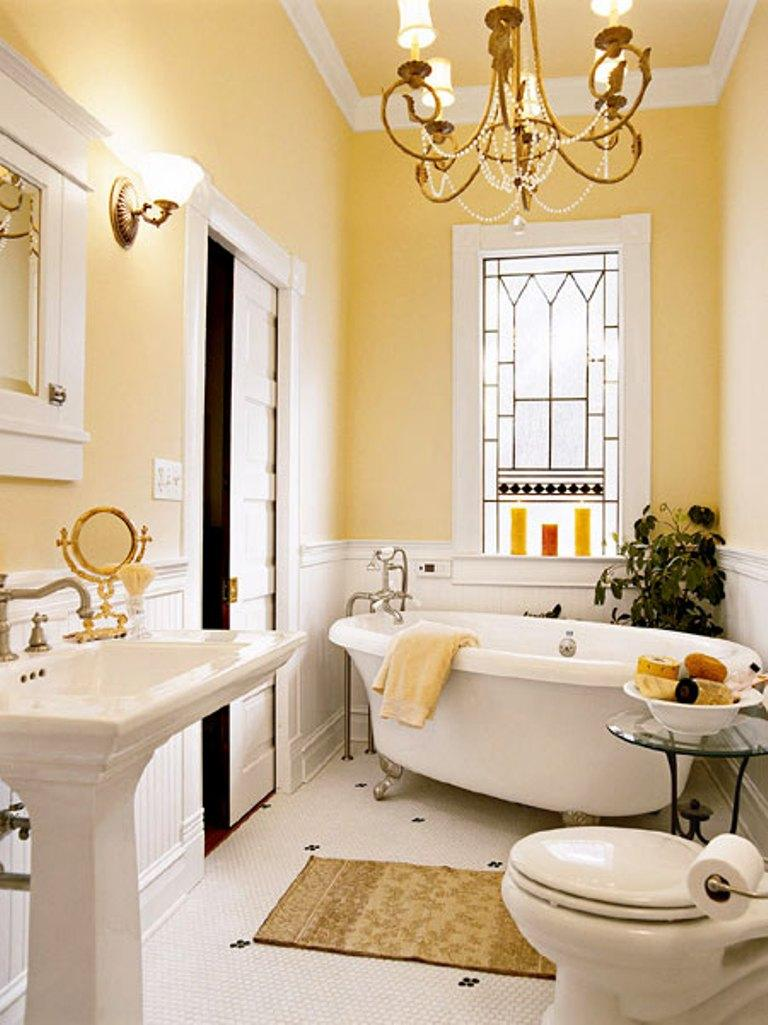 Yellow bathroom color ideas - Elegant Yellow Bathroom