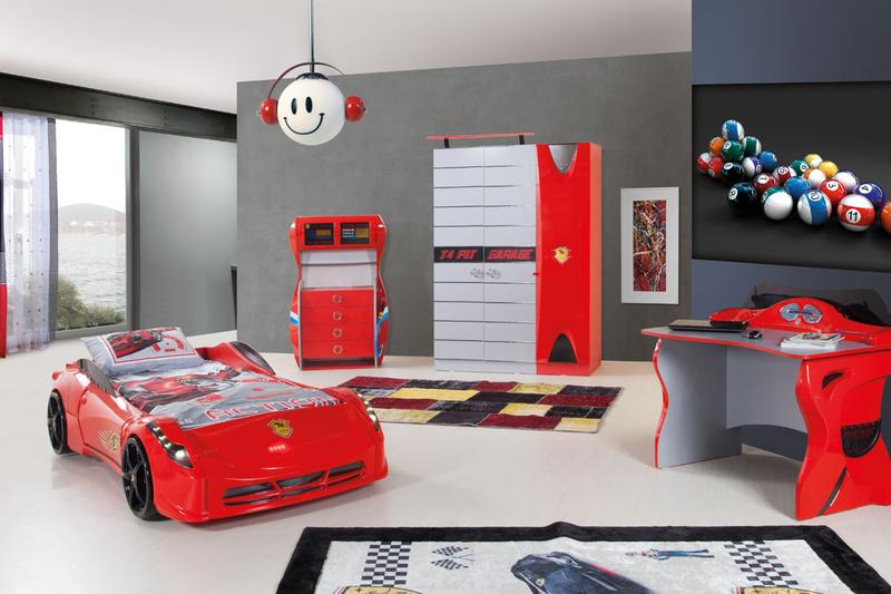17 awesome car inspired bed designs for boys rilane for Boy car bedroom ideas