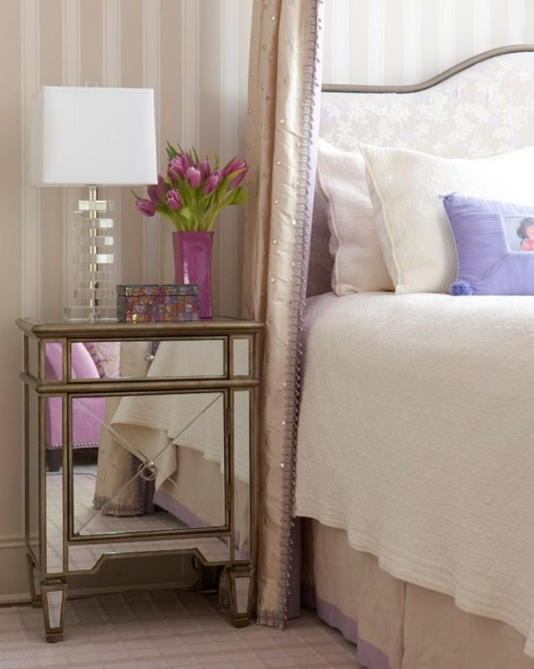 Mirrors Behind Bedside Tables: 10 Classy Mirrored Bedside Table Designs
