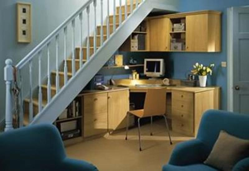 15 Smart Under Stairs Home Office Designs - Rilane