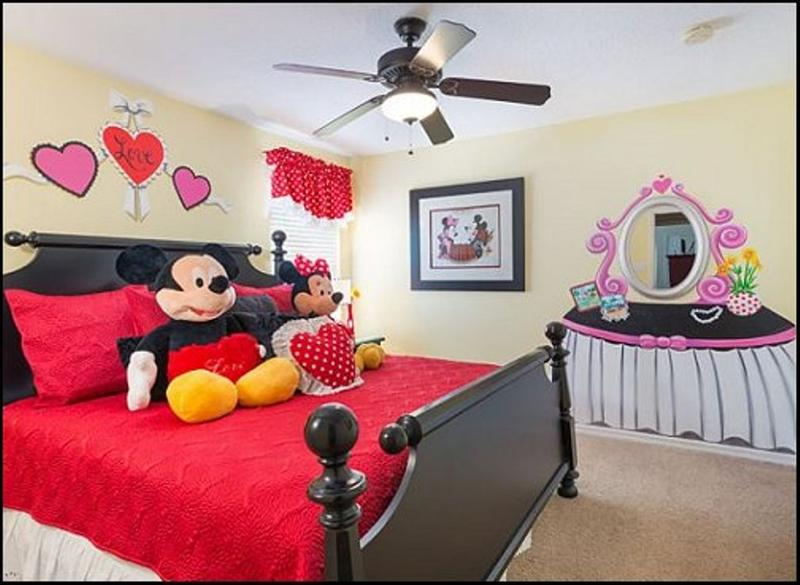 Girly mickey mouse bedroom