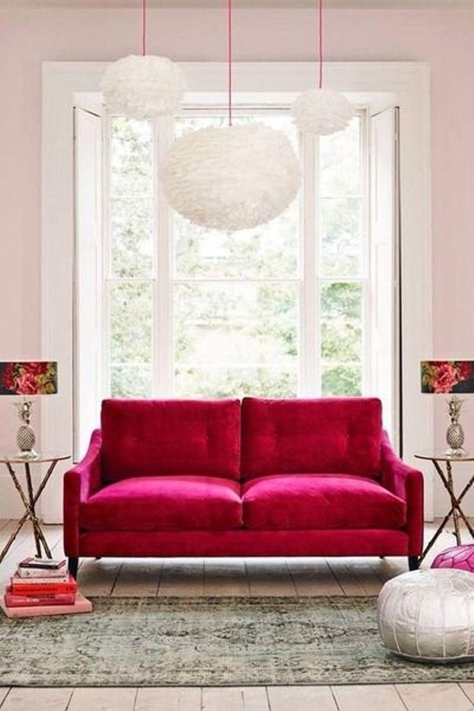 Hot Pink Velvet Sofa Part 74