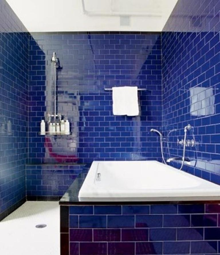 floor and wall tile. Want to tone down the blue in teh ...