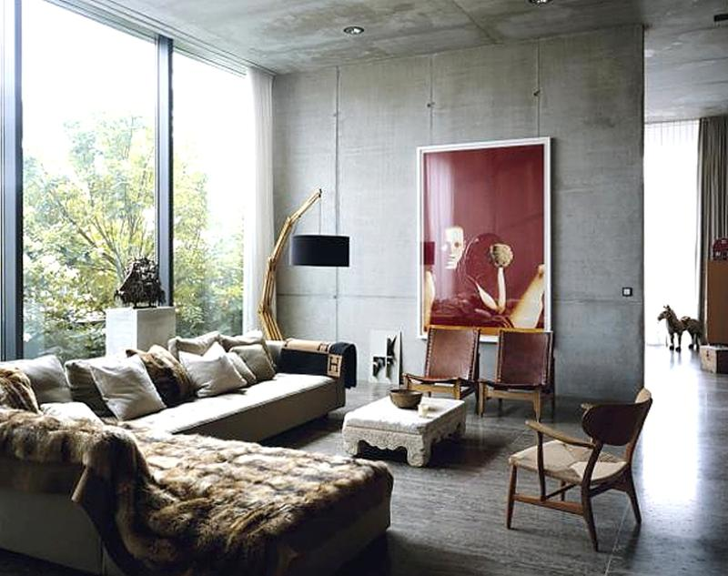 20 modern chic living room designs to inspire rilane for Industrial chic living room