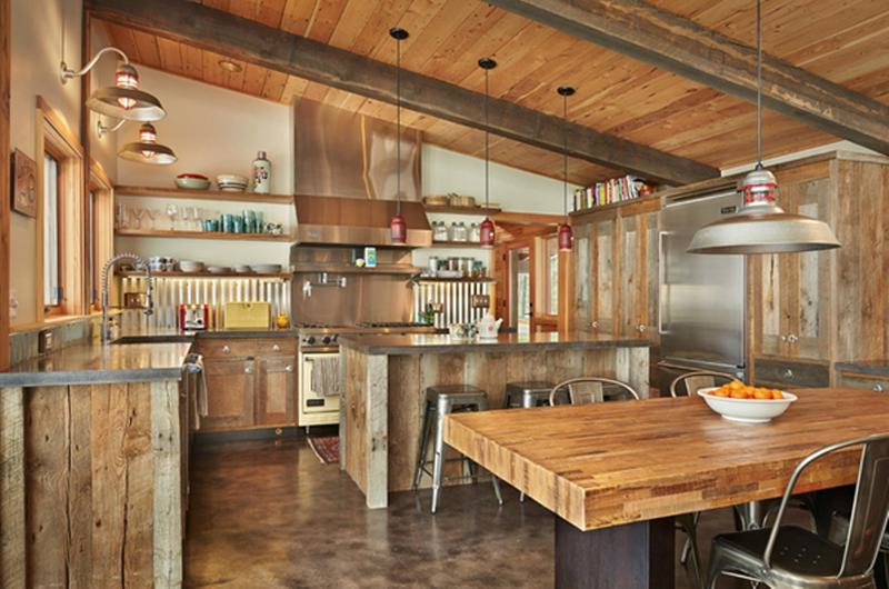 15 Rustic Kitchen Designs With Exposed Roof Beams Rilane
