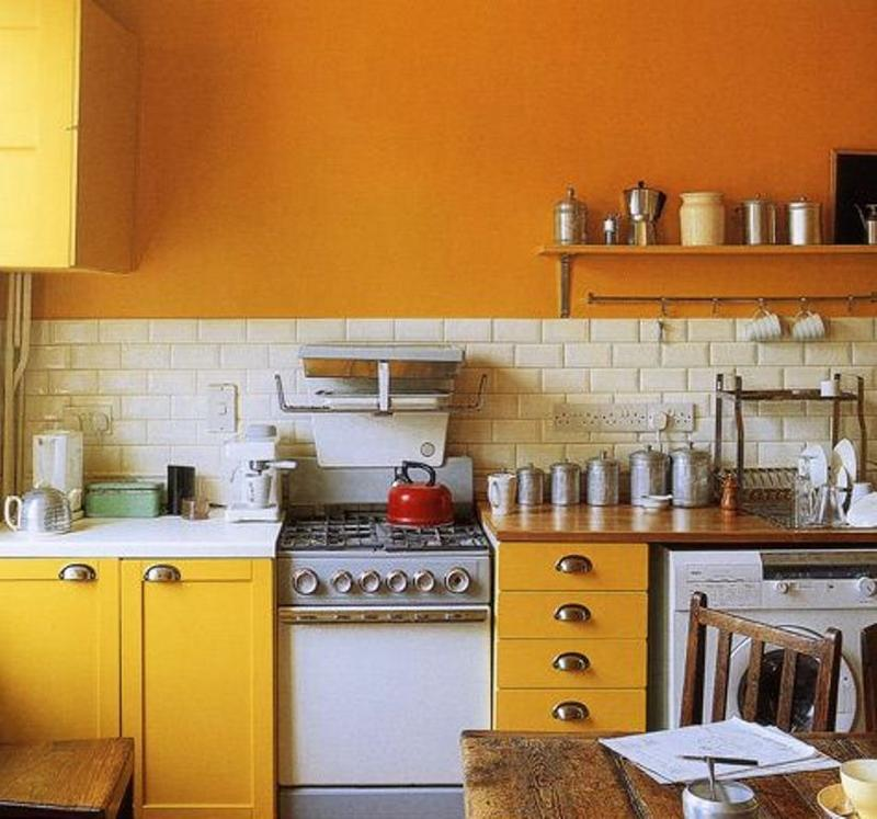 Industrial Yellow Kitchen