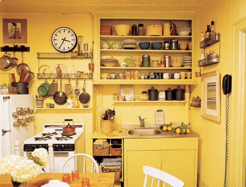 Lemon Yellow Boho Kitchen
