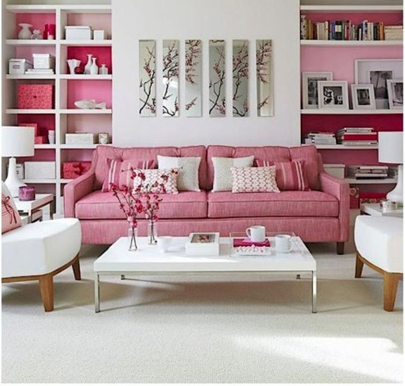 Light Pink Casual Sofa