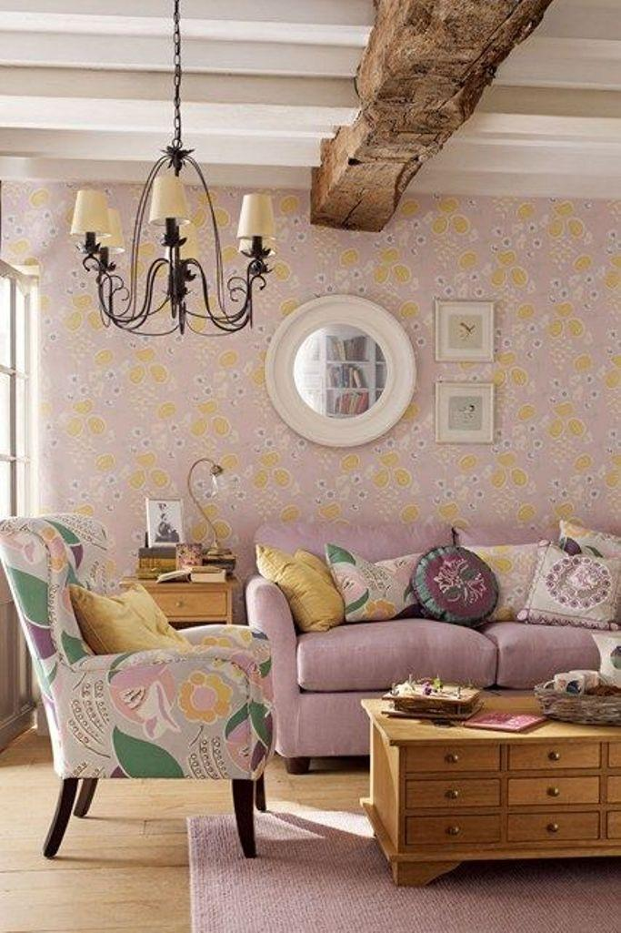 Superieur Light Pink Floral Wallpaper