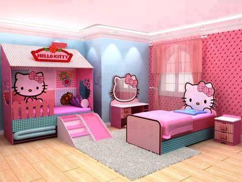 15 adorable hello kitty bedroom ideas for girls rilane for Bureau hello kitty