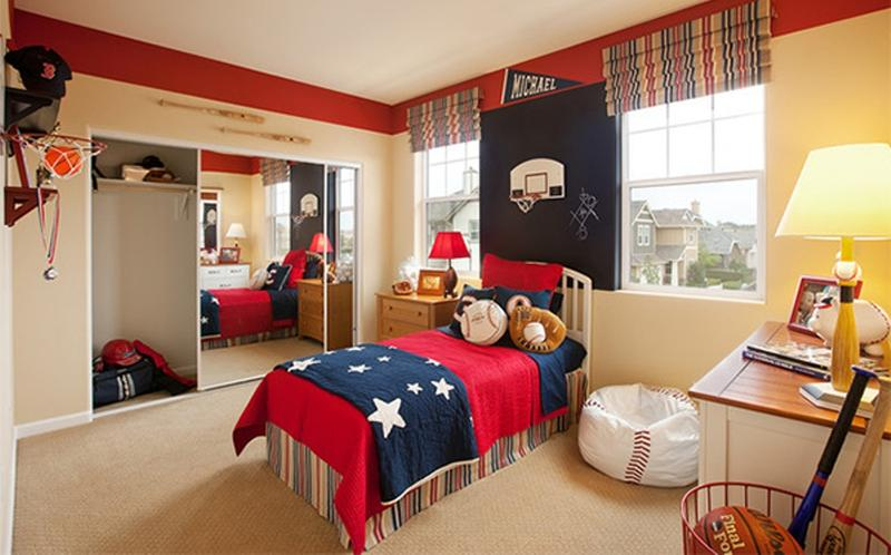 Lively Sports Inspired Bedroom
