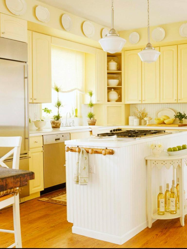 15 bright and cozy yellow kitchen designs rilane Bright kitchen