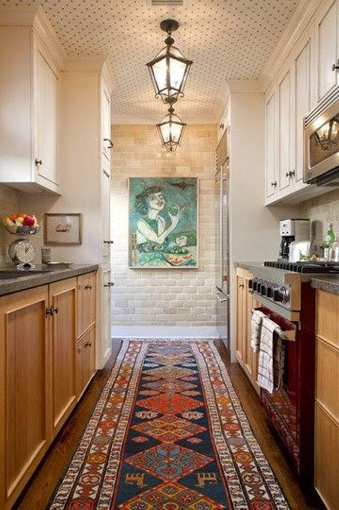 Long Ethnic Kitchen Area Rug
