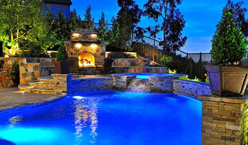 Mansion Backyard with big pool