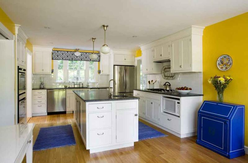 Mediterranean Yellow Kitchen Design