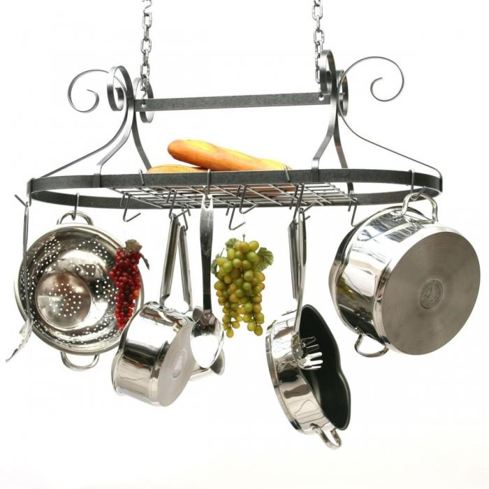 10 Hanging Pot And Pan Rack Organizer