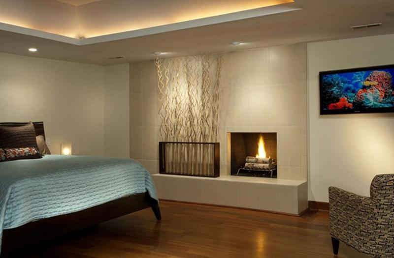 Modern Bedroom With Fireplace Part 47