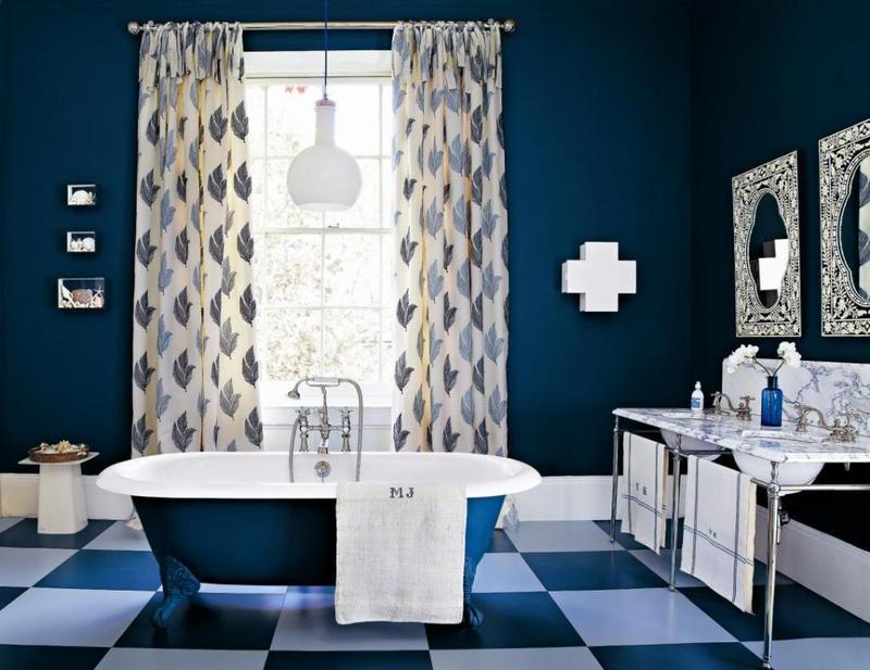 Interior Dark Blue Bathroom 20 extremely refreshing blue bathroom designs rilane modern dark bathroom