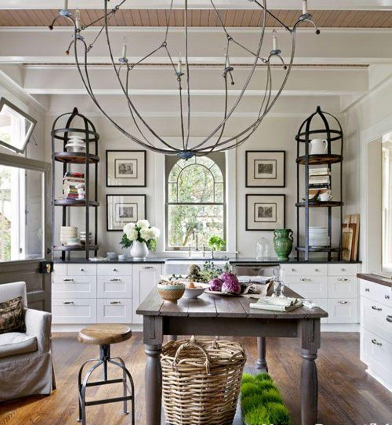 15 French Inspired Kitchen Designs : french style kitchen cabinets - Cheerinfomania.Com