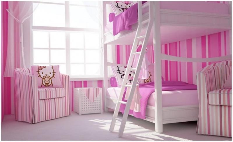 Modern Hello Kitty Twins Bedroom