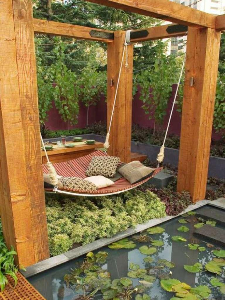 Modern Outdoor Swing Bed