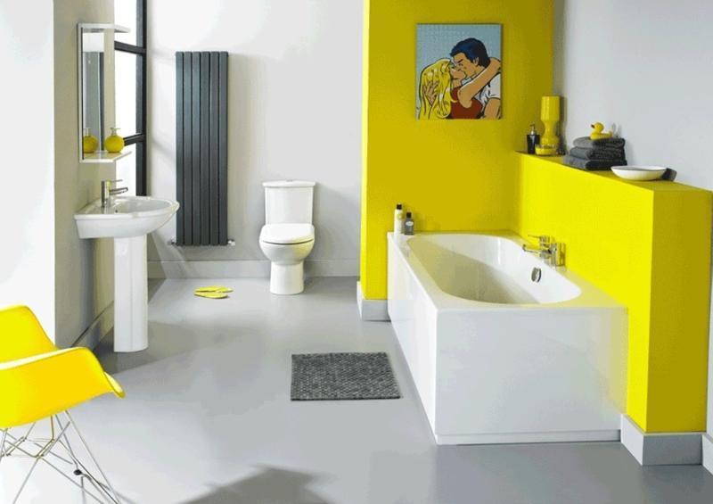 Modern Yellow Bathroom