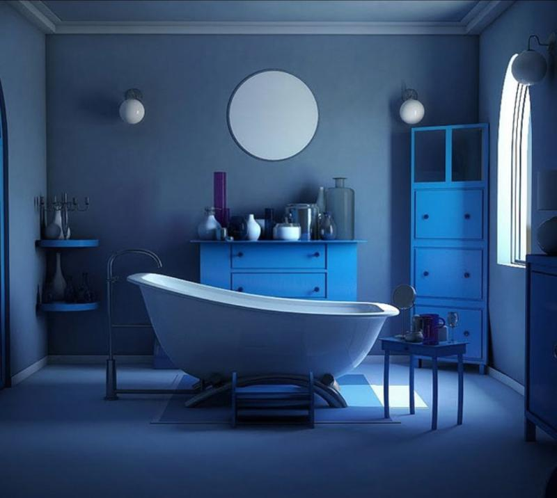 20 Extremely Refreshing Blue Bathroom Designs - Rilane