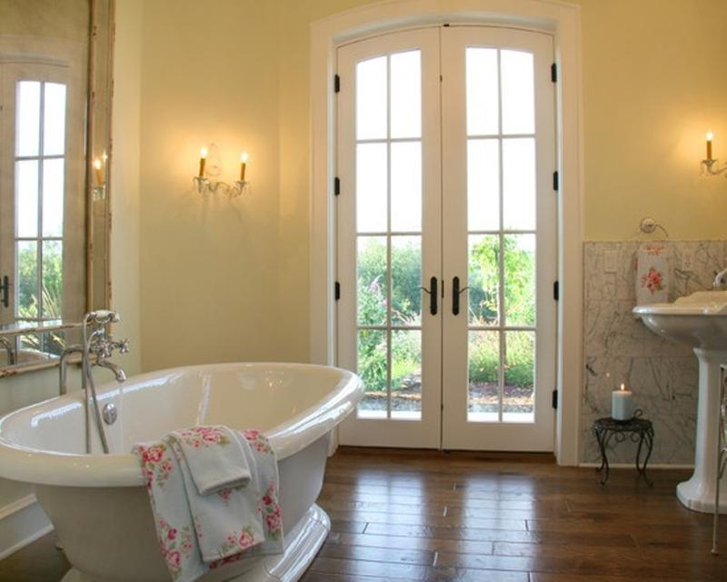 Natural French Country Bathroom