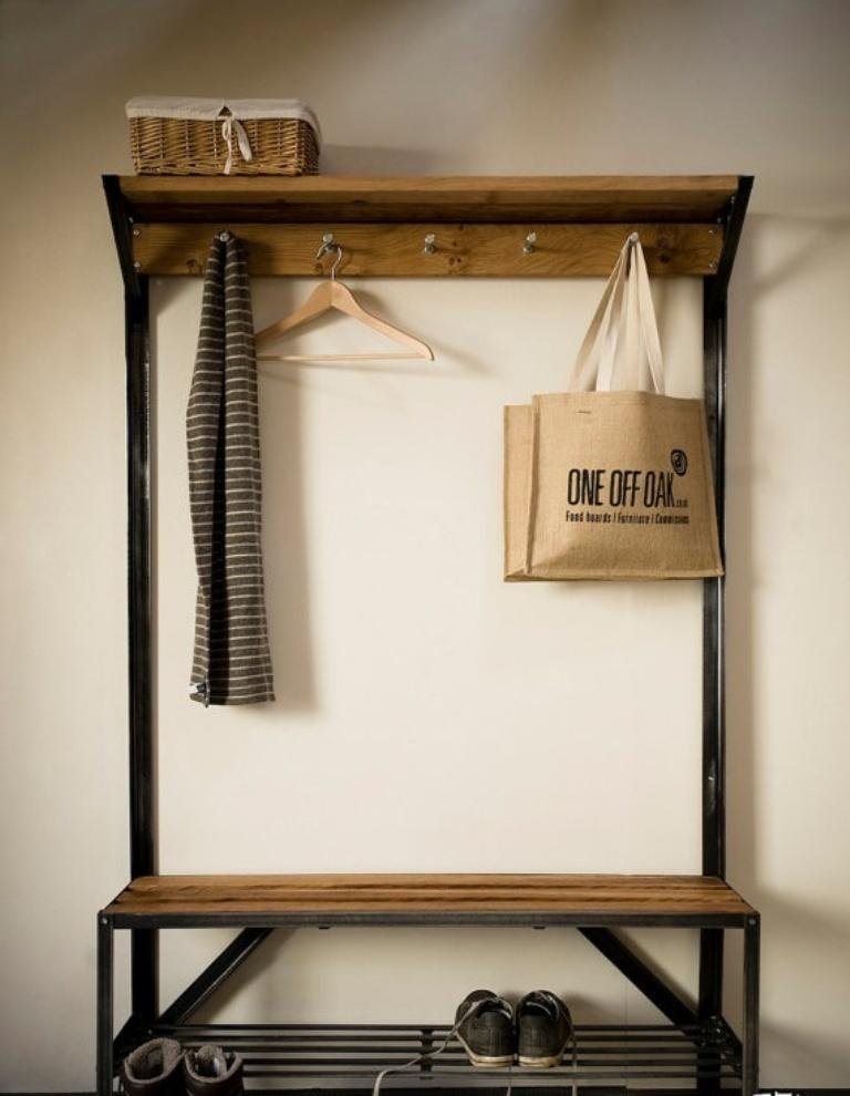 10 Organized Hallways With Beautiful Coat Rack Bench Rilane