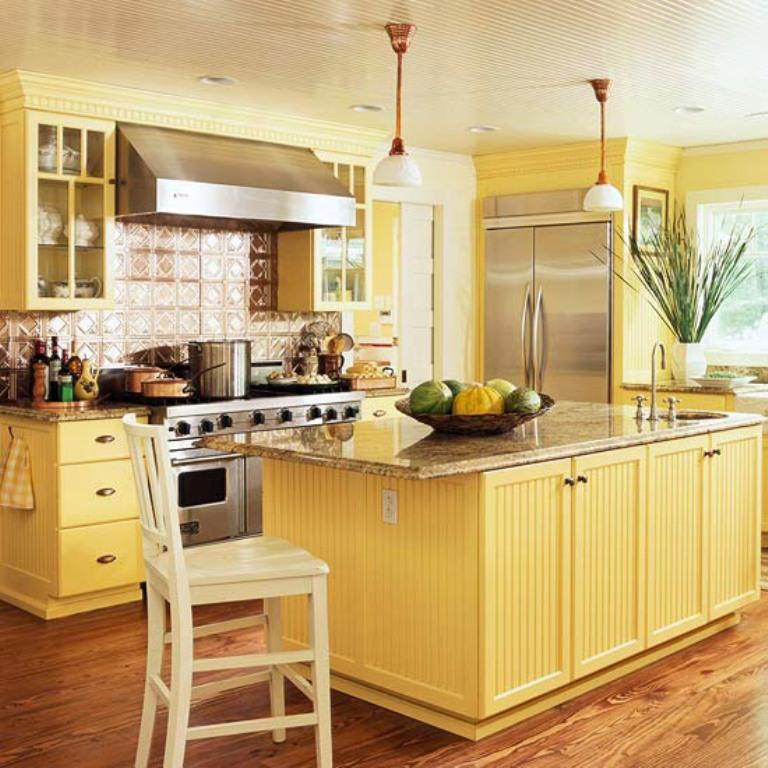 20 Modern Kitchens Decorated In Yellow And Green Colors: 15 Bright And Cozy Yellow Kitchen Designs