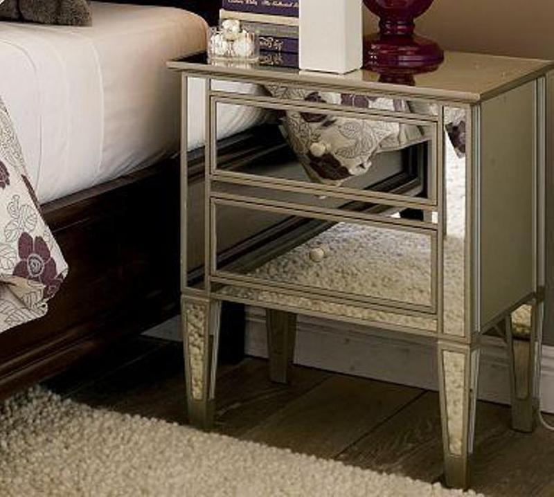 10 Classy Mirrored Bedside Table Designs Rilane
