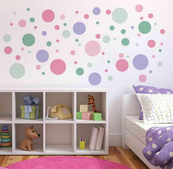 Pastel Colored Dots Bedroom