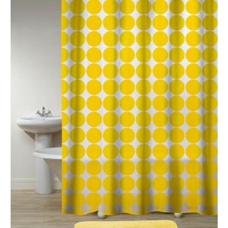 Photo Yellow Striped Shower Curtain Images 10 Yellow