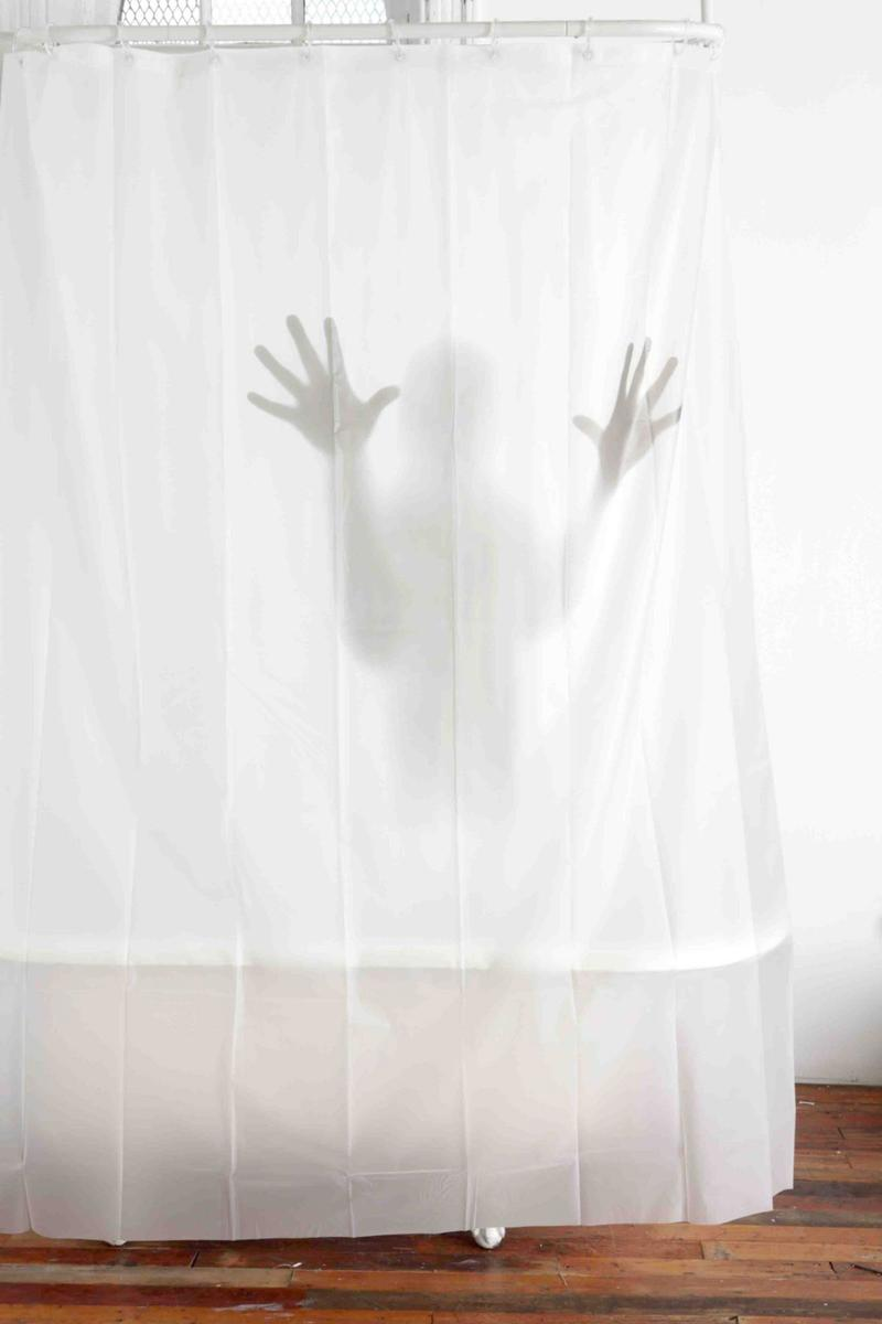 Psycho Shadow Shower Curtain