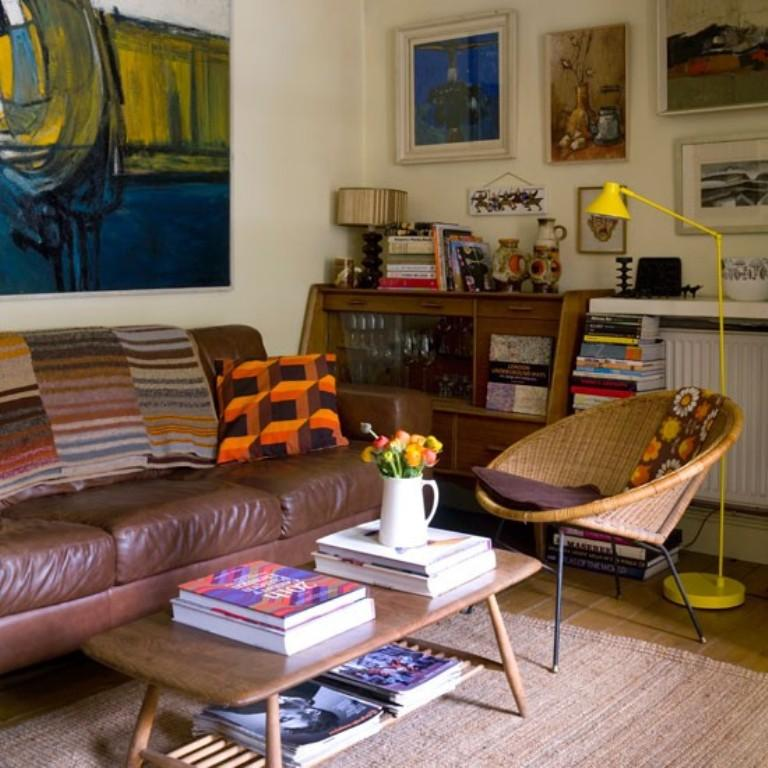 Quirky Eclectic Living Room Awesome Design